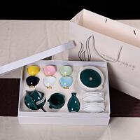 现代新婚功夫红茶具陶瓷创意茶艺西施壶整套装家用喝茶杯礼盒欧式