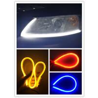 汽车导光条泪眼灯LED日行灯 双色带转向灯 可弯曲日间装饰灯SN3553