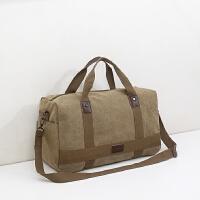 帆布旅行包男手提行李包出差健身包短途旅游包大容量可折叠运动包