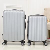 男女韩国竖条纹ABS拉杆箱万向轮旅行箱20寸24寸28寸男女行李箱包