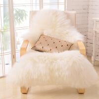 澳洲整张羊皮地毯欧式客厅卧室沙发羊毛坐垫椅垫飘窗垫定做 本白色