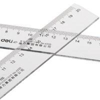 得力6220直尺加厚塑料20cm厘米测量工具批发 简约儿童创意多功能文具尺 中小学生透明测量尺子绘图制图刻度尺