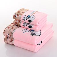 婴儿浴巾超柔软比吸水新生儿童卡通初生洗澡冬季加厚宝宝毛巾