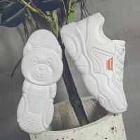 小白鞋女2019新款百搭韩版初中生复古运动鞋学生休闲白球鞋智熏鞋 白色 标准码