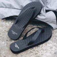 男士沙滩鞋情侣拖鞋夏人字拖女款时尚外穿个性防滑大码韩版凉拖潮