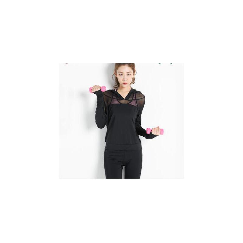 新款速干长袖瑜伽服上衣女健身房运动服透气跑步外套 品质保证 售后无忧 支持货到付款