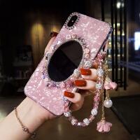 华为手机壳女新款带钻石潮plus奢华水钻镜子mate10pro网红
