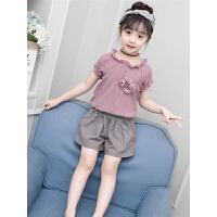 女童夏装新款套装韩版儿童装短袖两件套洋气夏季潮