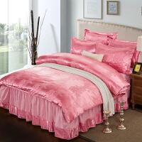 欧式床罩床裙四件套全棉纯棉提花床上用品床套款床单裙式被套