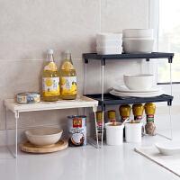 创意折叠厨房置物架双层调料架调味品架子家用台面厨具沥水收纳架