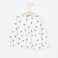 【满1000减750】moomoo童装女童衬衫长袖新款秋装韩版纯棉中大儿童梭织上衣