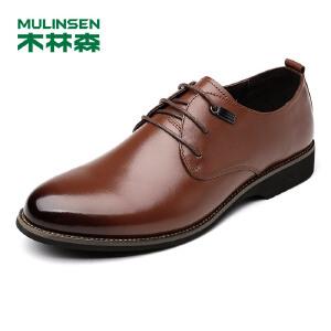 【品牌钜惠 下单立减120】木林森99男鞋 男士头层牛皮系带商务正装皮鞋 05377311