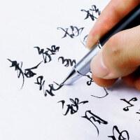 成人钢笔练字专用毕加索钢笔916美工弯头弯尖男士女商务高档签名学生用速写硬笔书法刻字