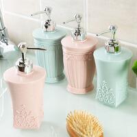 洗手液瓶子 欧式立体雕花沐浴露分装瓶洗手液瓶子 洗发水空瓶按压瓶乳液瓶