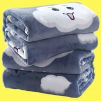 冬季薄款珊瑚绒毯子法兰绒毛毯加厚双人床单学生单人宿舍毛毯。
