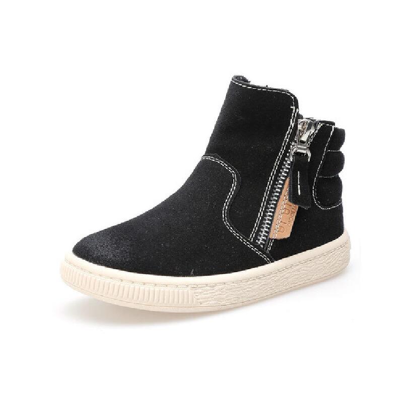 比比我童鞋秋冬款男女童儿童帅气皮鞋童鞋靴子皮靴马丁靴短靴【每满100减50】