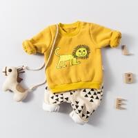 婴儿外套装男童秋冬装加绒加厚保暖婴幼儿女童宝宝秋装0岁1卫衣服
