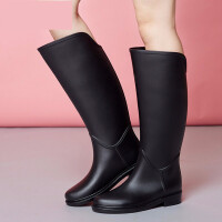 水鞋女高筒时尚高筒马靴雨鞋秋冬女士雨靴水鞋套鞋胶鞋女长筒 TBP