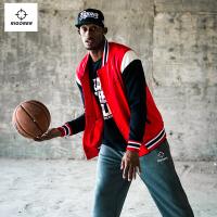准者篮球出场服男 长袖卫衣保暖加绒外套 运动篮球柔软加厚出场服