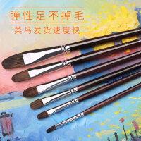 中盛画材 狼毫水彩水粉油画笔套装笔画笔画画笔美术用品水彩画笔套装初学者 成人水彩笔画笔101