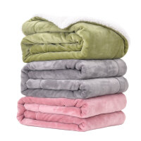 小毯子办公室午睡毯单人儿童小毛毯被子加厚保暖双层冬季珊瑚绒毯