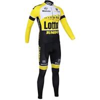 自行车骑行服男女长袖套装秋冬儿童环法夏季山地车装备 otto黄色长套装
