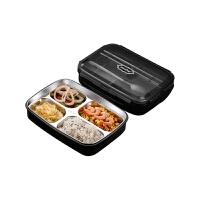 304不锈钢饭盒便当餐盘分格小学生带盖食堂简约儿童