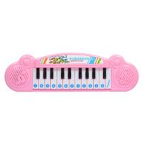 电子琴儿童玩具琴 早教音乐琴女孩小钢琴宝宝玩具1-3-6岁 粉红色 (不配送电池)