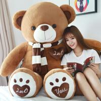泰迪熊猫公仔抱抱熊女生布娃娃玩偶抱枕大毛绒玩具送女友生日礼物