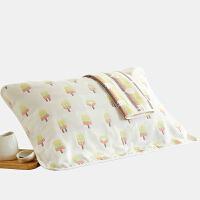 纯棉素雅六层全棉枕巾情侣枕头盖巾一对纯棉