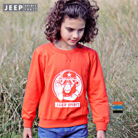 JEEP/吉普童装 男童休闲针织上衣中大儿童卡通卫衣套头衫新