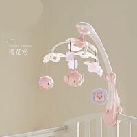 ?婴儿床铃新生儿床头摇铃3-6-12个月宝宝0-1岁音乐旋转玩具? 1_床铃樱花粉