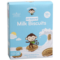 LittleFreddie小皮全谷物牛奶饼干儿童零食辅食宝宝磨牙饼干 80g