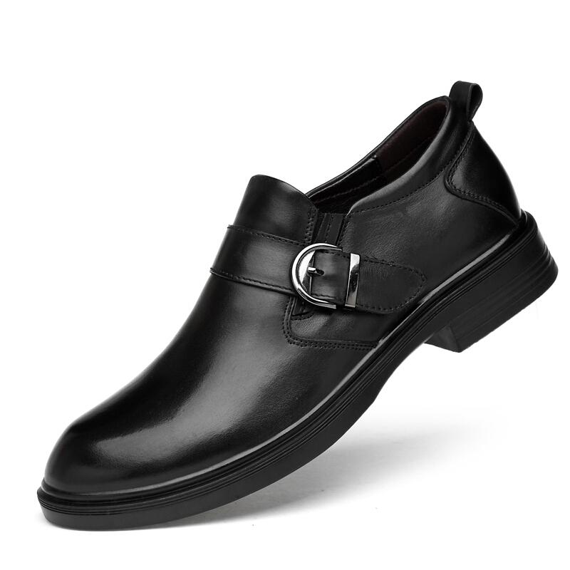休闲皮鞋男商务正装鞋2018新款百搭男士大码大头鞋鳄鱼纹真皮鞋子  36-49