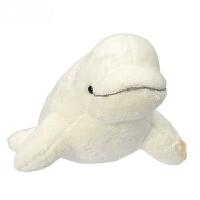 仿真大毛绒玩具 鲸鱼公仔玩偶儿童生日礼物白海豚公仔 白鲸