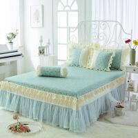 公主蕾丝床裙单件棉床单床罩席梦思1.5m1.8m床全棉床单
