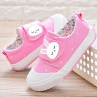 女童帆布鞋2018秋季新款韩版儿童布鞋小孩鞋子卡通童鞋女宝宝板鞋