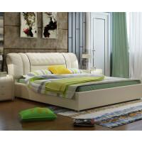 床1.8米软床头双人床现代简约主卧婚床榻榻米欧式家具 +2柜+9区薰衣草加棉垫 1800mm*2000mm 气压结构