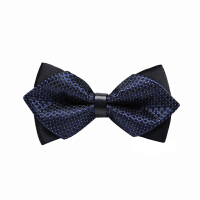 男士韩式英伦蝴蝶结男士伴郎新郎衬衫三角蓝格领结