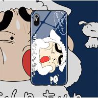 6蜡笔小新xr情侣iphonex苹果x手机壳玻璃xs情侣max硬8plus男7女6s 6/6s小屏 (玻璃-小白小新)