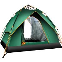 2人双人家庭野外野营厚防账蓬 露营帐篷户外3-4人全自动二室一厅