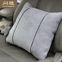 抱枕被子两用汽车靠垫被办公室靠垫靠枕创意车上加厚棉空调被