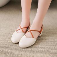 女童凉鞋新款韩版夏季中大童时尚小公主鞋包头儿童凉鞋女高跟
