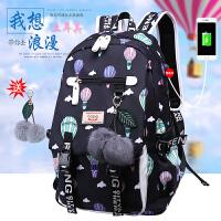初中学生书包女双肩包韩版休闲时尚校园学院风大容量高中女生背包