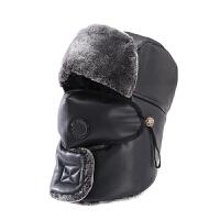 帽子男士冬季皮雷锋帽冬天户外防风保暖棉帽