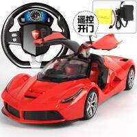 ?超大可充电遥控车可开门方向盘漂移男孩遥控汽车赛车模型儿童玩具?