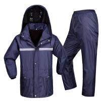 雨衣雨裤套装牛津布军黄厚帆布摩托车雨衣双层加厚 XXXX