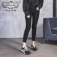 玛菲玛图2018新款女鞋低帮系带运动鞋女韩版原宿百搭跑鞋设计师女鞋819-1