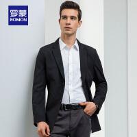 【2.5折到手价:239】Romon/罗蒙时尚修身西服中青年男士春新款商务休闲薄款夹克男