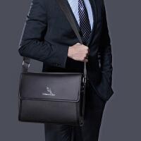 横款真皮男士包包大号单肩包时尚翻盖斜挎包商务挂包牛皮耐磨跨包
